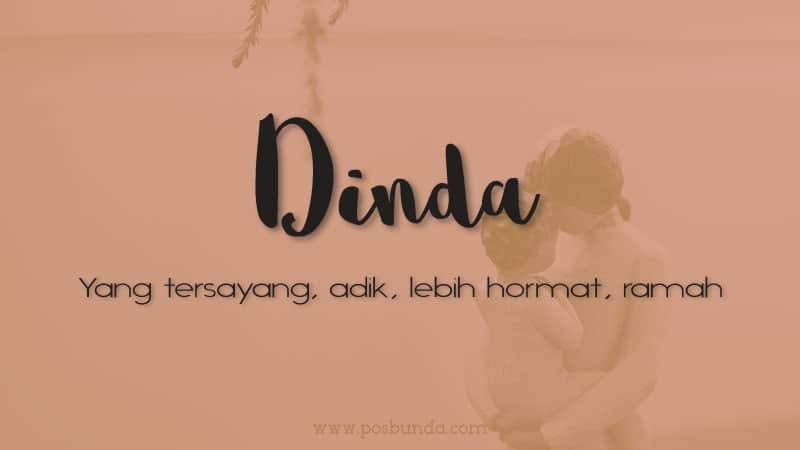 Arti Nama Dinda - Dinda