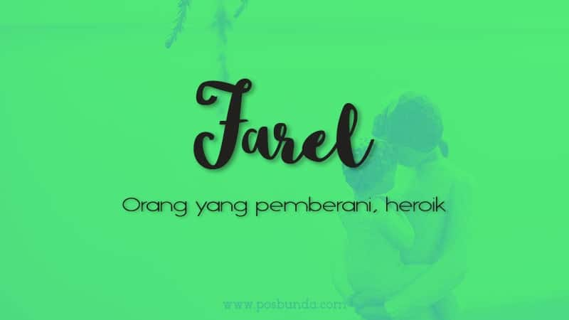 Arti Nama Farel - Farel