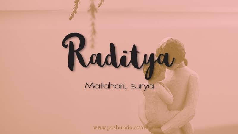 Arti Nama Raditya - Raditya