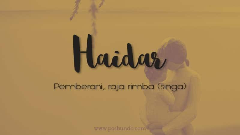 Arti Nama Haidar - Haidar