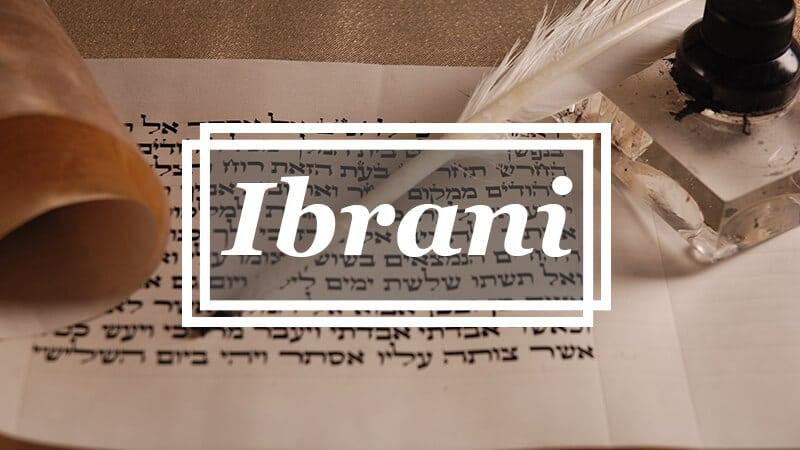 Asal Bahasa - Ibrani