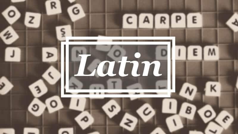 Asal Bahasa - Latin