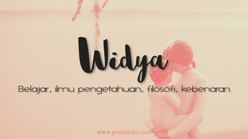 Arti Nama Widya - Widya