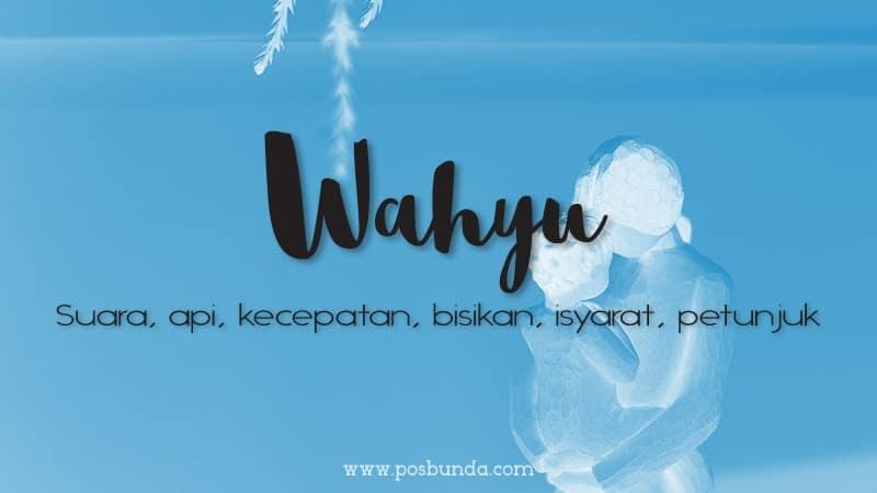 Arti Nama Wahyu - Wahyu