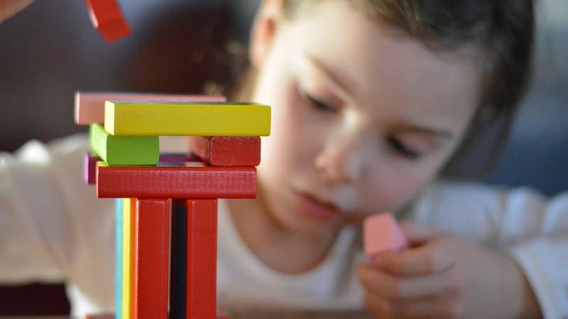 Mainan Anak Anak Perempuan - Blok Kayu Susun