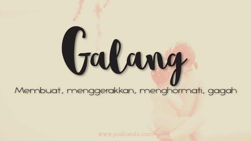 Arti Nama Galang- Galang