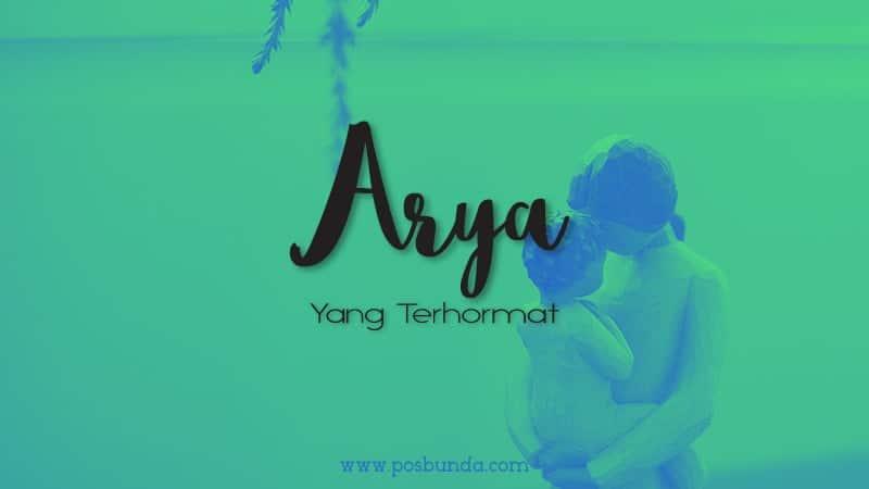 Arti Nama Arya - Arya
