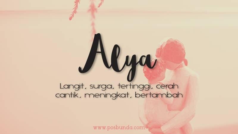 Arti Nama Alya - Alya