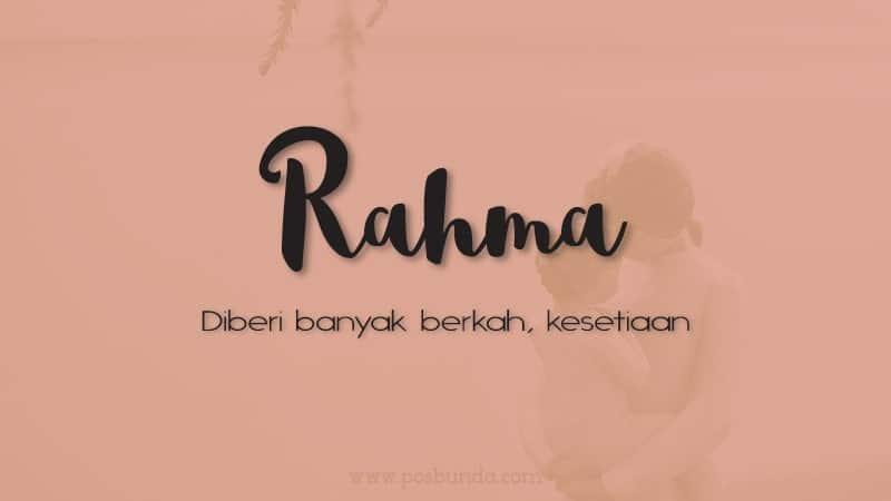 Arti Nama Rahma - Rahma