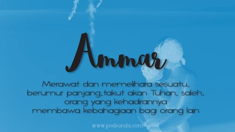 Arti Nama Ammar - Ammar