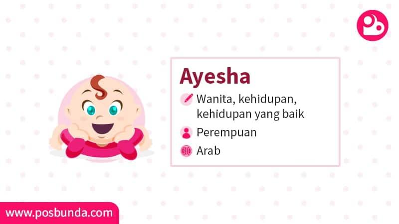 Arti Nama Ayesha - Ayesha