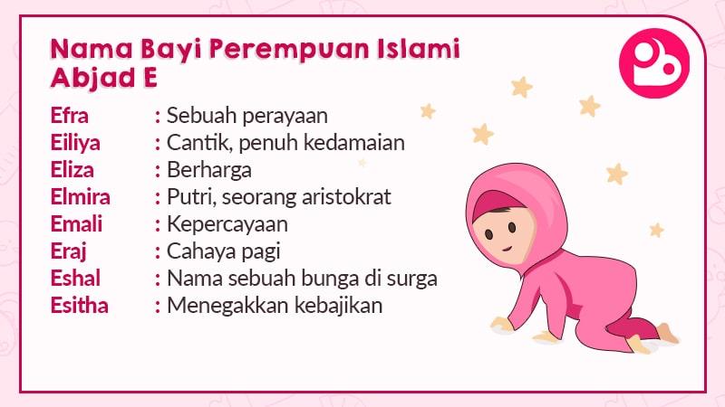 Nama Anak Perempuan Islami Huruf E