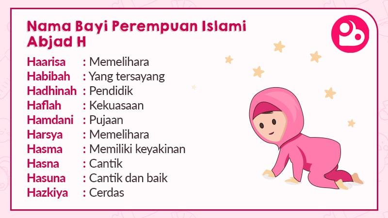 Nama Anak Perempuan Islami Berawalan H