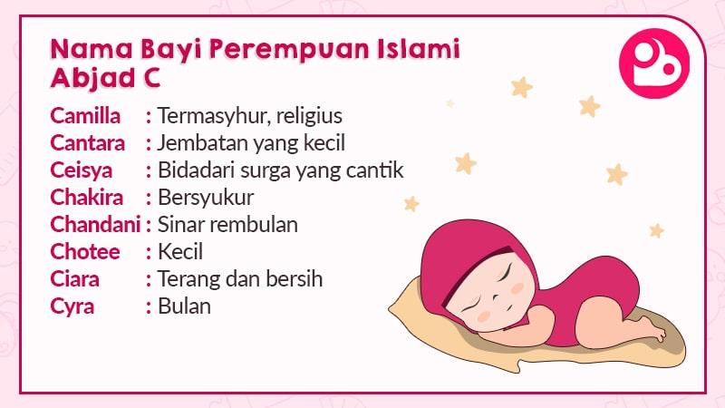 Nama Anak Perempuan Islami Huruf C