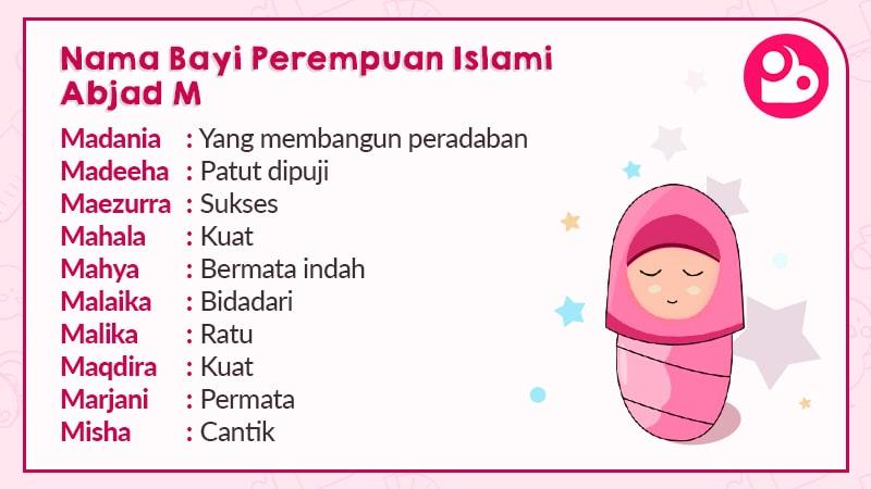 Nama Anak Perempuan Islami Huruf M