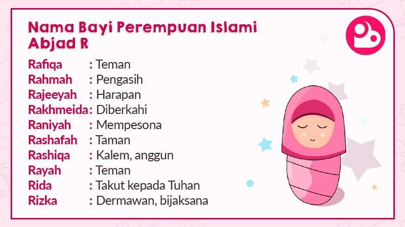 Nama Anak Perempuan Islami Huruf R