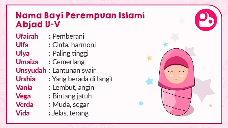 Nama Anak Perempuan Islami Berawalan U dan V