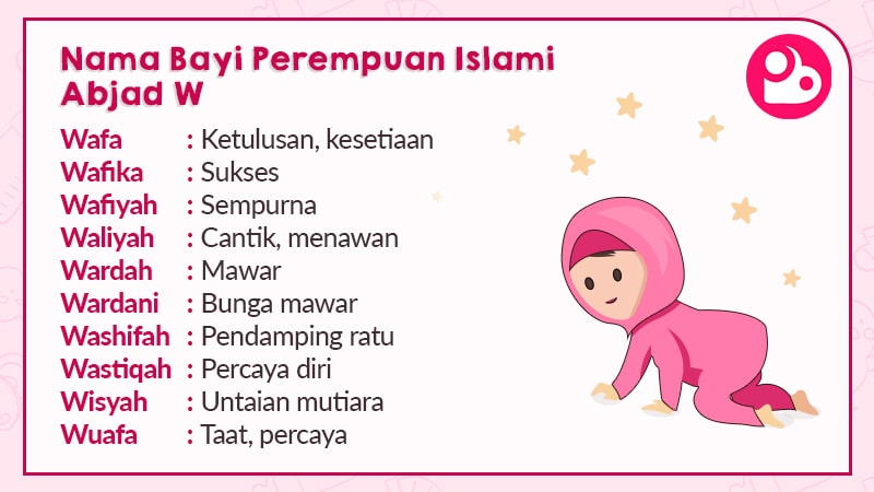 Nama Bayi Perempuan Islami Berawalan W
