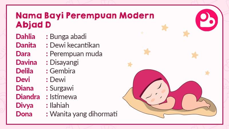 Nama Anak Perempuan Modern Abjad D