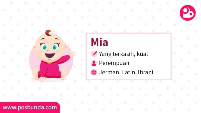 Arti Nama Mia - Mia