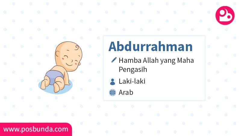 Arti Nama Abdurrahman - Abdurrahman