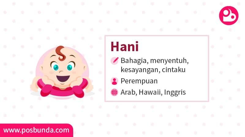 Arti Nama Hani - Hani