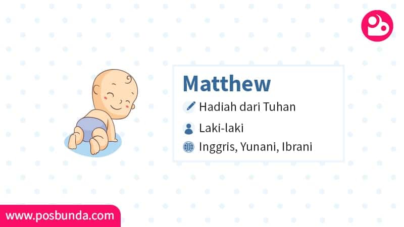 Arti Nama Matthew - Matthew