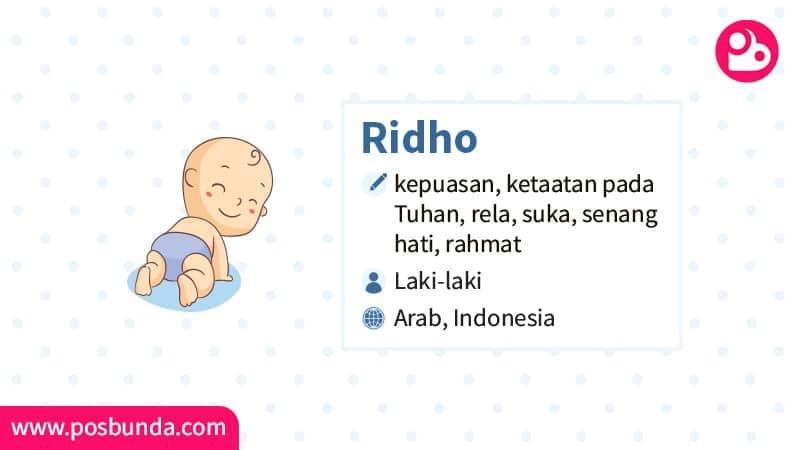 Arti Nama Ridho - Ridho