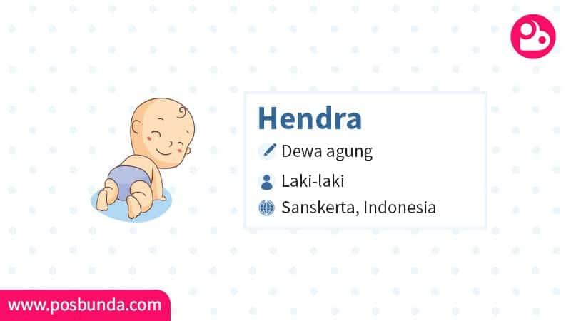 Arti Nama Hendra - Hendra