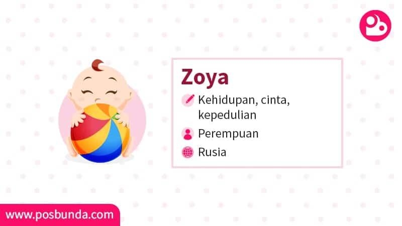 Arti Nama Zoya - Zoya