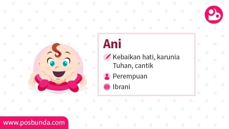 Arti Nama Ani - Ani