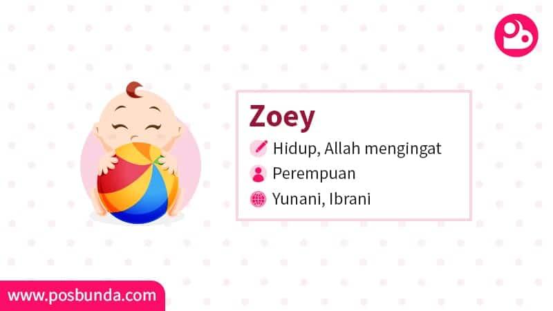 Arti Nama Zoey - Zoey