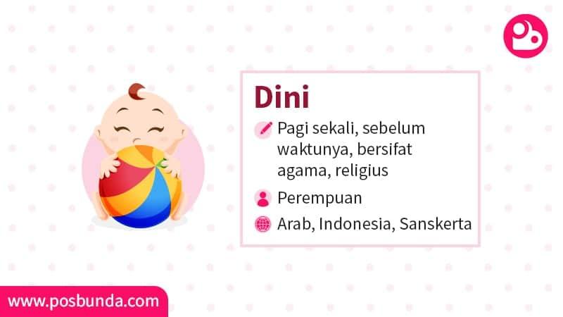 Arti Nama Dini - Dini