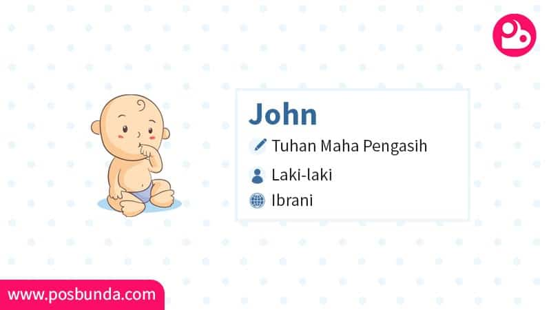 Arti Nama John - John
