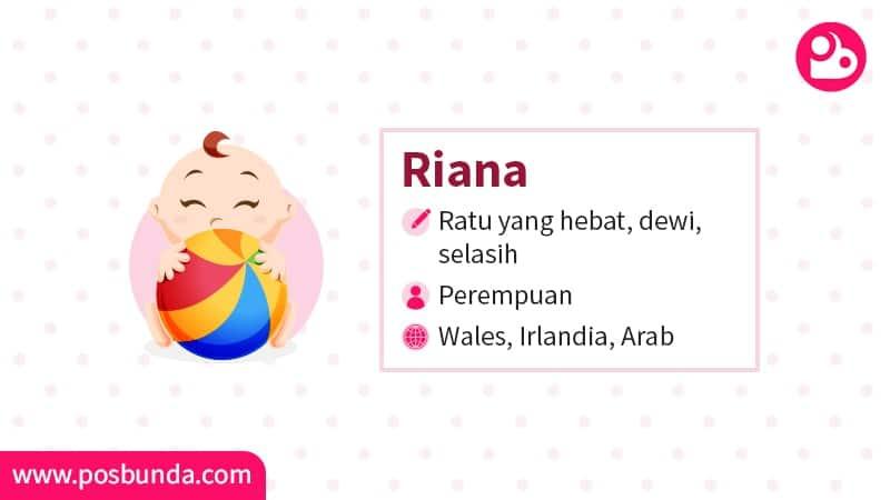 Arti Nama Riana - Riana