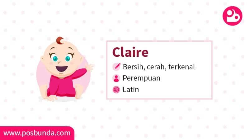 Arti Nama Claire - Claire