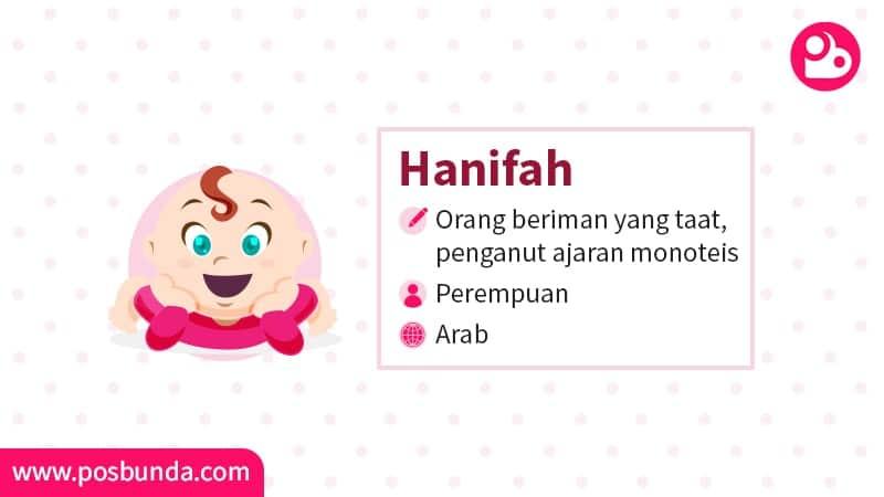 Arti Nama Hanifah - Hanifah