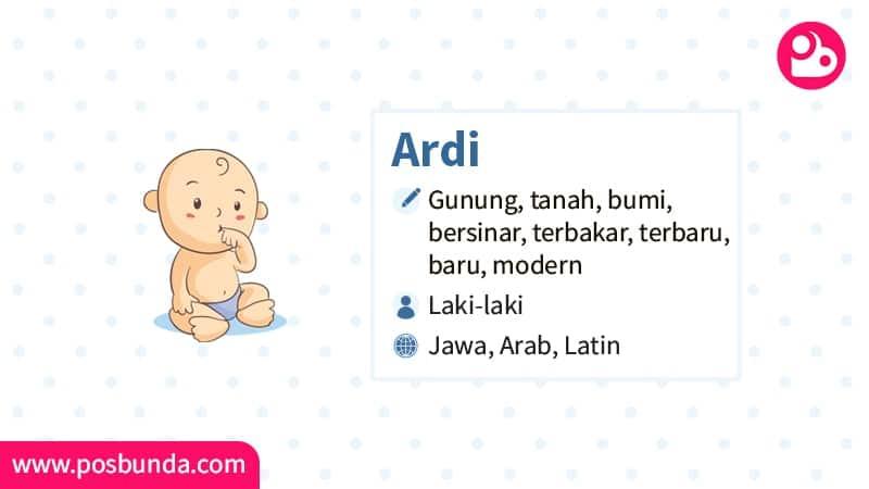 Arti Nama Ardi - Ardi