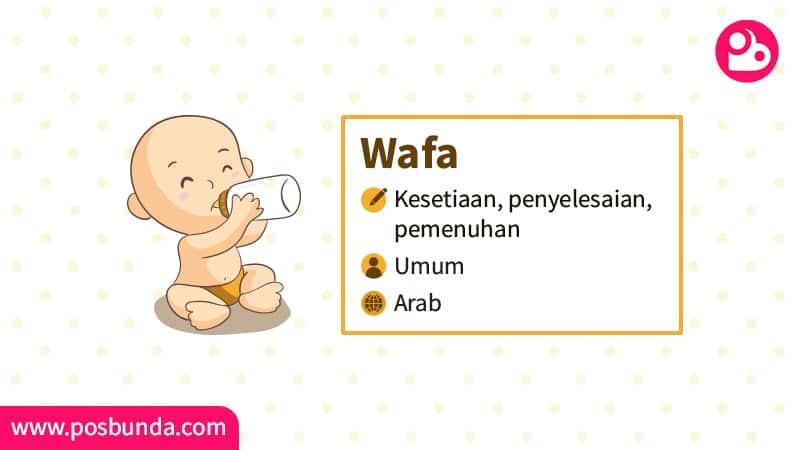 Arti Nama Wafa - Wafa