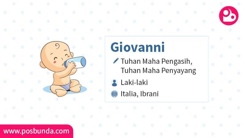 Arti Nama Giovanni - Giovanni