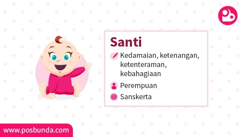 Arti Nama Santi - Santi