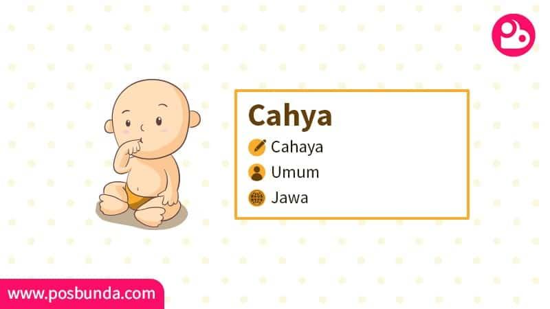 Arti Nama Cahya - Cahya