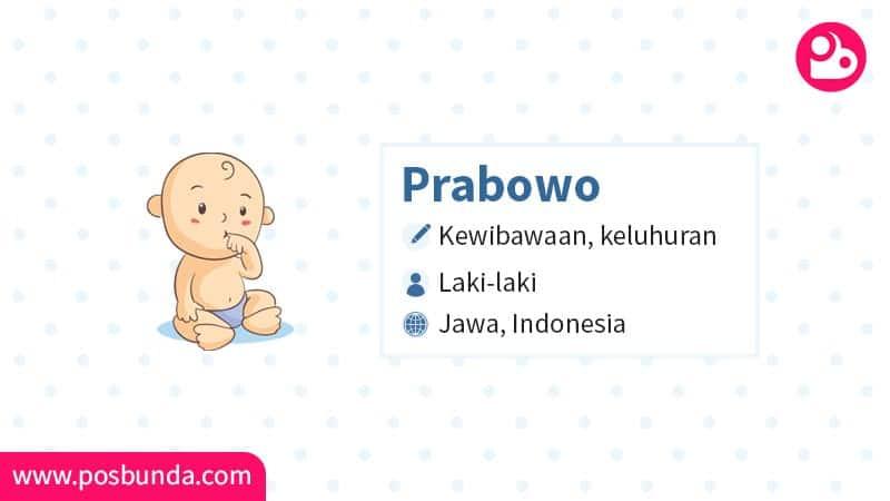Arti Nama Prabowo - Prabowo